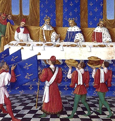 Medieval Tablecloths And Table Linen