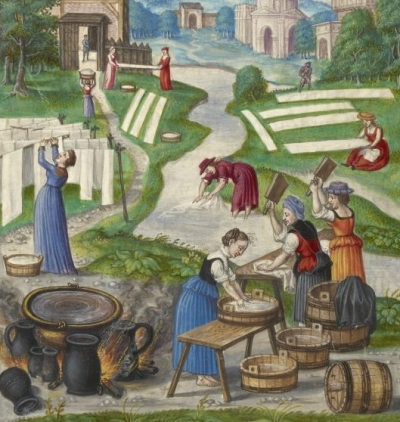 Laundry History Washing Clothes In Middle Ages Renaissance Tudor