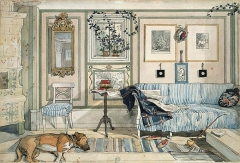 19th century sitting room by Swedish painter Carl Larsson