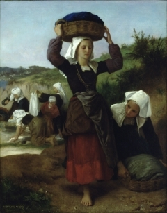 The Washerwomen of Fouesnant painted by Bouguereau in 1869