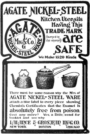 Agate nickel-steel ware 1520 kinds free from poison
