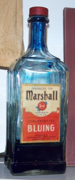 Old bottle of bluing