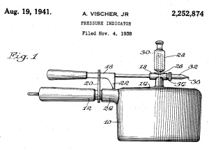 patent drawing for pressure indicator