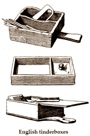 18th + 19th century wood tinderboxes
